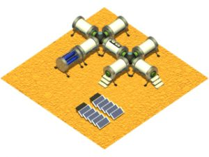 Modular manned station on the Planet Mars